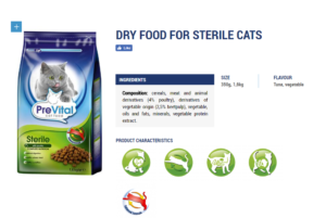 food for sterile cats